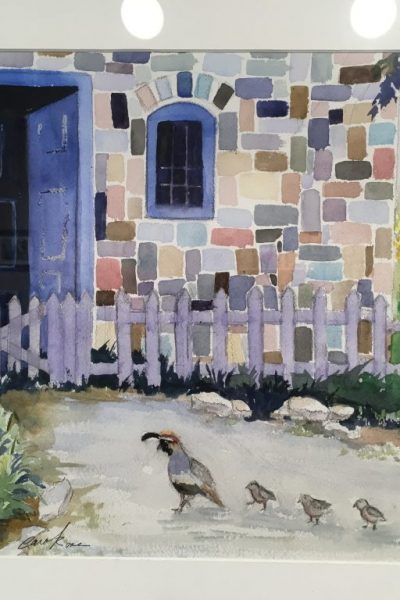 """Quails at the Door"" by Carol Rose"