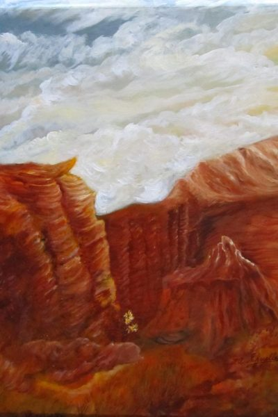 Neighbor Show_ Cloudy Canyon_ Oil on Canvas_ $125_ 24x28